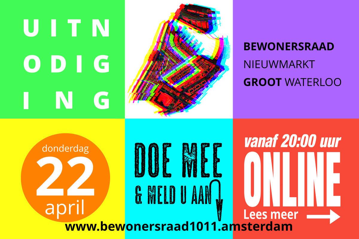 Bewonersraad 22 april 2021 @ Digitaal | Amsterdam | Noord-Holland | Nederland